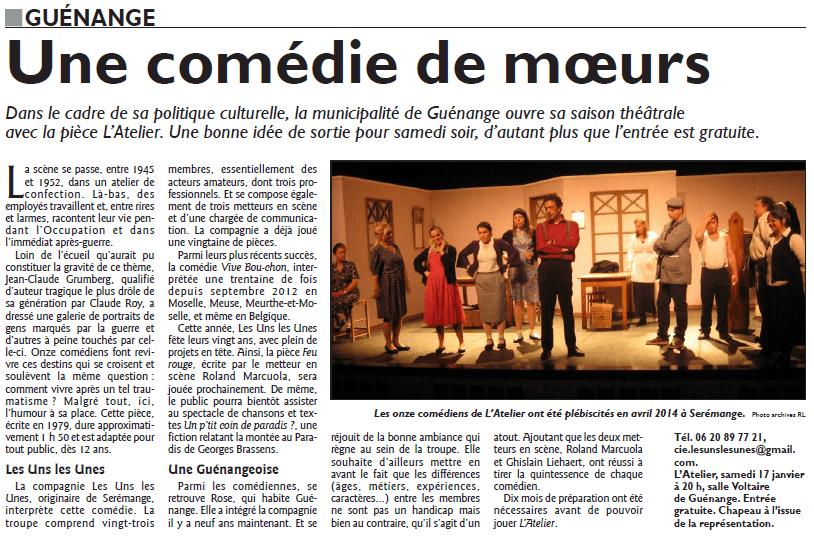 l'atelier Rl Guenange 13- 01- 2015