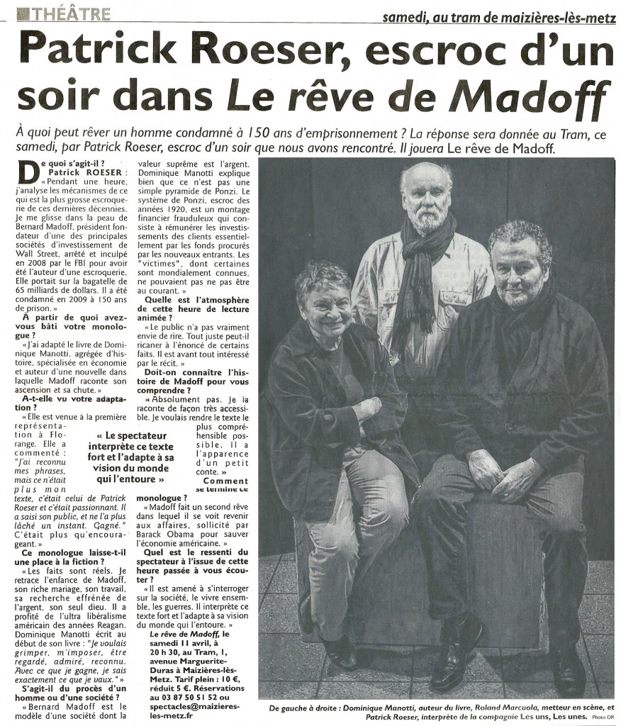 Article Madoff RL